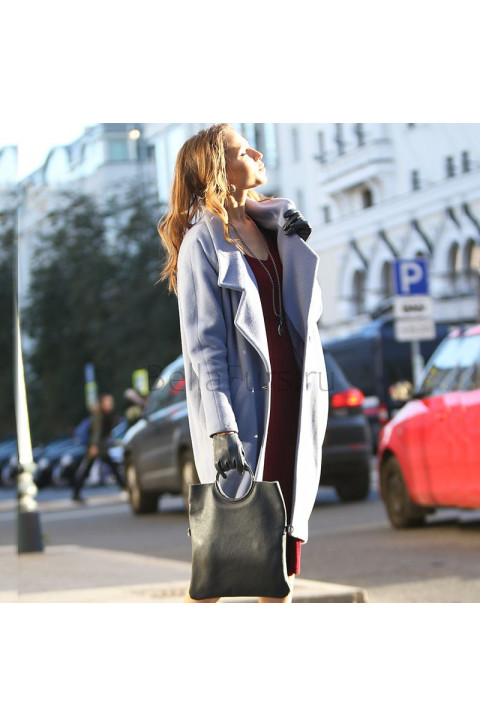 Кожаный клатч Messina, цвет серый