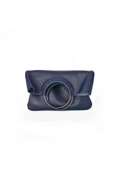 Кожаный клатч Messina, цвет синий