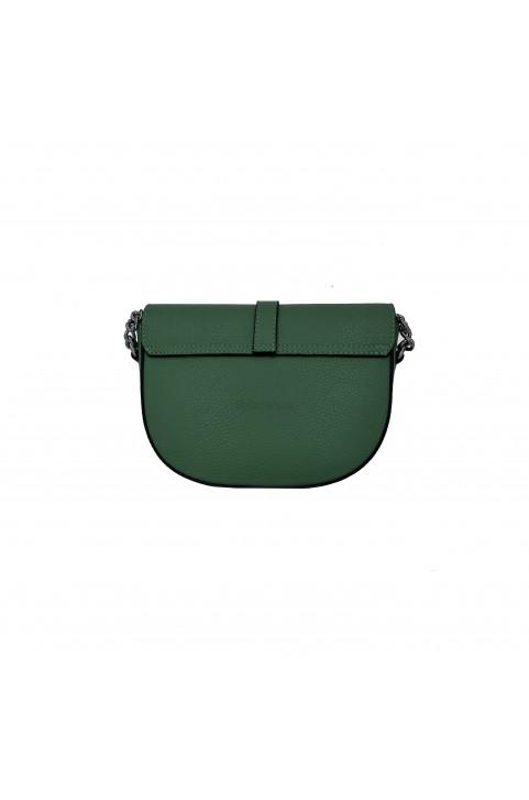 Кожаная сумка кросс-боди Latina, цвет тёмно-зелёный