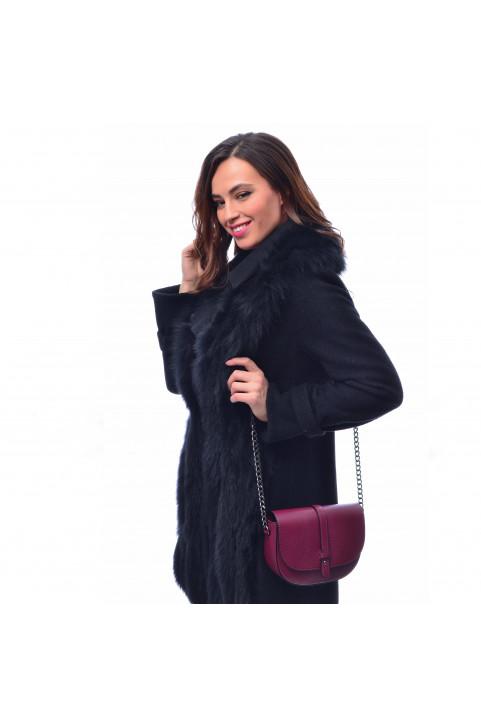 Кожаная сумка кросс-боди Latina, цвет бургунди