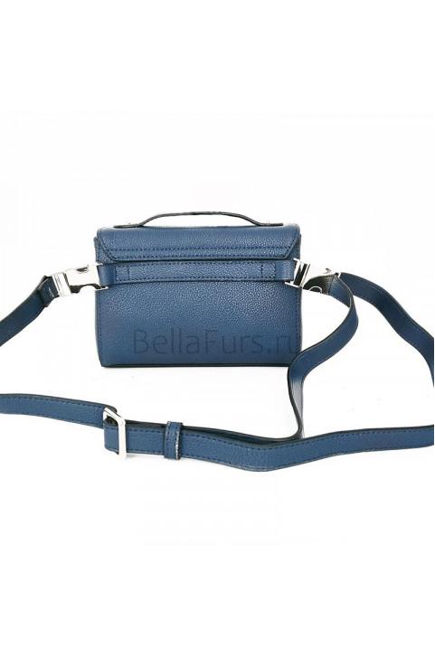 Кожаная поясная сумка Modena, цвет синий