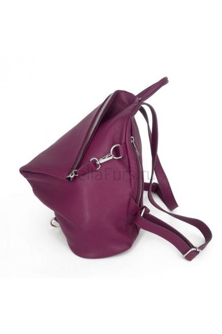 Кожаный Рюкзак Salerno, цвет бургунди (малина)