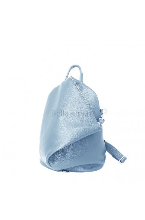 Кожаный Рюкзак Salerno, цвет светло-голубой