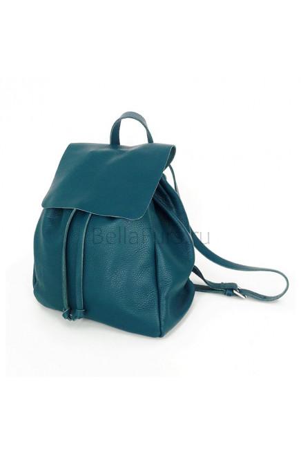Кожаный Рюкзак Siena, цвет морская волна