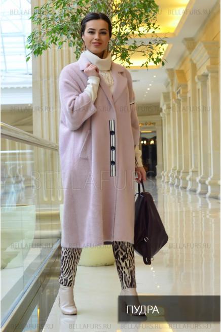 Пальто oversize демисезонное, цвет пудра