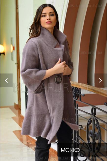 Пальто oversize демисезонное, цвет мокко
