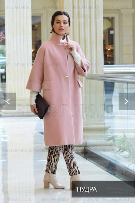 Пальто oversize демисезонное, цвет светло-розовый