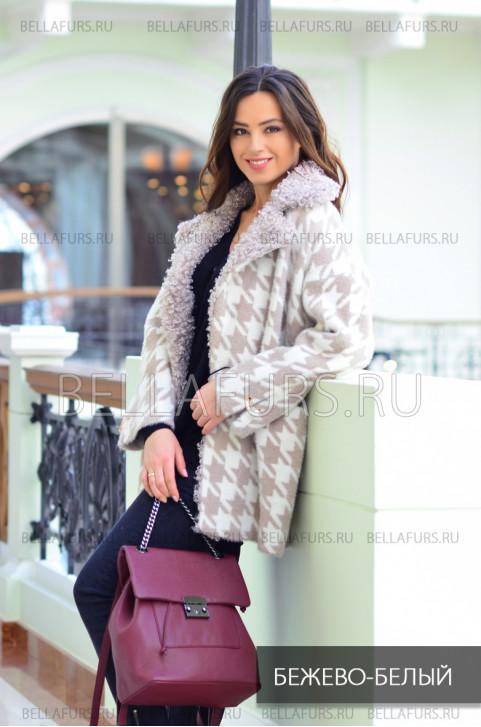 Пальто oversize демисезонное, цвет бежевый