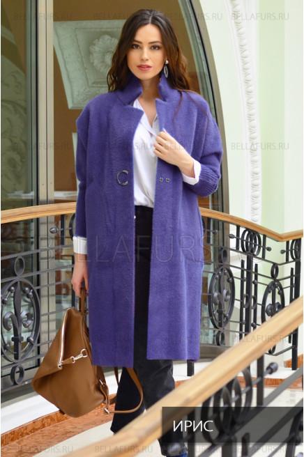 Пальто oversize демисезонное, цвет ирис