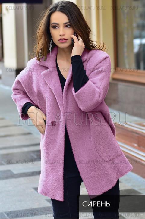 Пальто oversize демисезонное, цвет  сирень