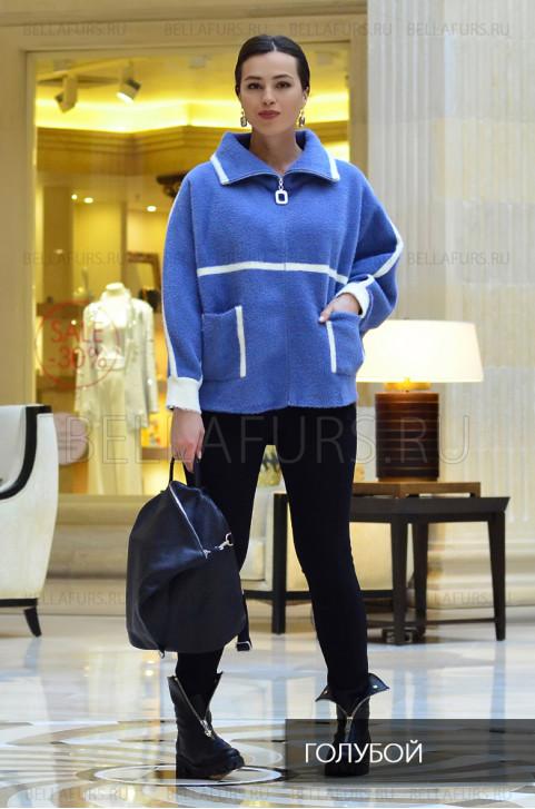 Пальто oversize демисезонное, цвет голубой