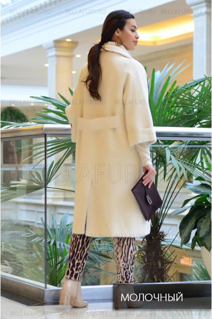 Пальто oversize демисезонное, цвет молочный