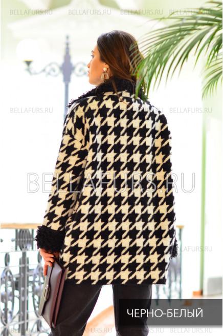 Пальто oversize демисезонное, цвет чёрно-белый