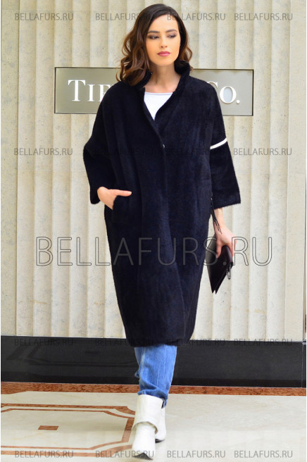 Пальто oversize демисезонное, цвет чёрный