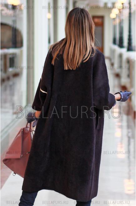 Пальто oversize демисезонное, цвет фиолетовый