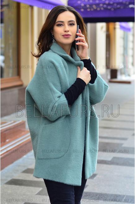 Пальто oversize демисезонное, цвет  мятный