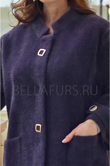 Пальто oversize демисезонное, цвет баклажан