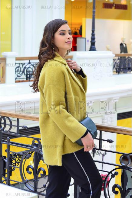 Пальто oversize демисезонное, цвет горчичный