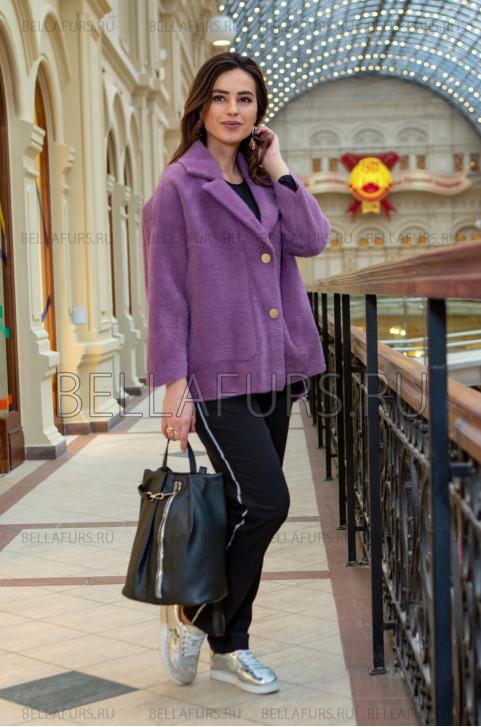 Пальто oversize демисезонное, цвет сиреневый