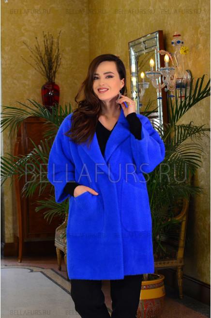 Пальто oversize демисезонное, цвет электрик