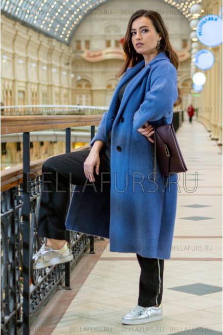 Пальто oversize демисезонное, цвет синий