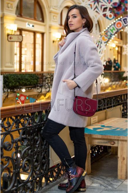 Пальто oversize демисезонное, цвет светло-лиловый