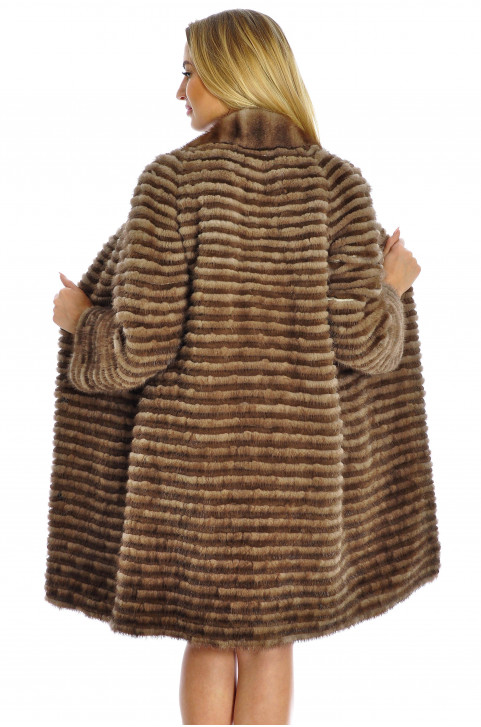 Женская норковая шуба на трикотаже