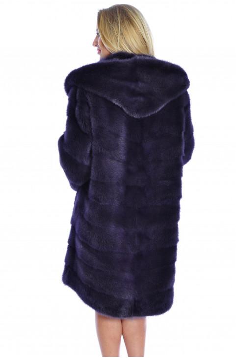 Шуба норковая фиолетовая