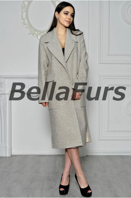 Стильное пальто из шерсти