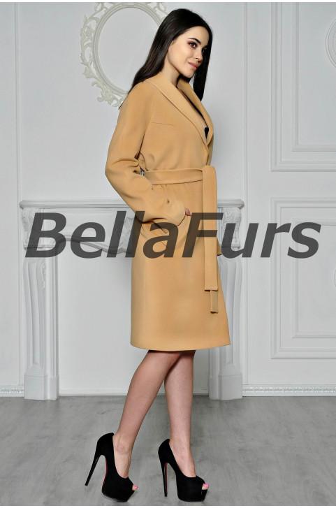 Шерстяное пальто на осень