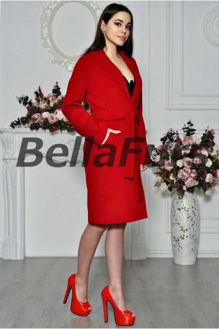 Пальто красное из кашемира