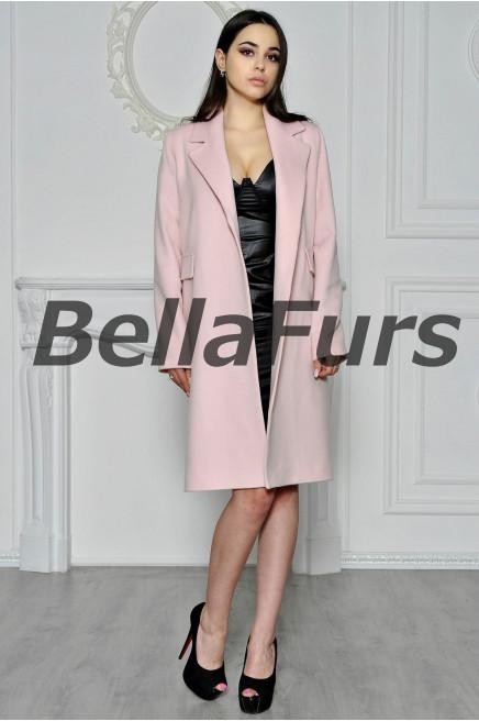 Шерстяное пальто-халат
