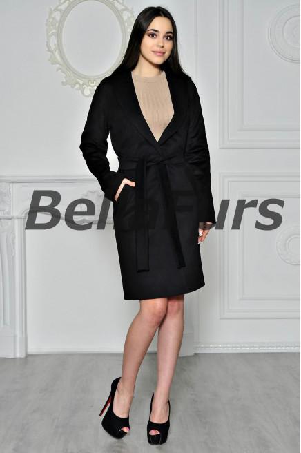 Пальто-халат чёрное