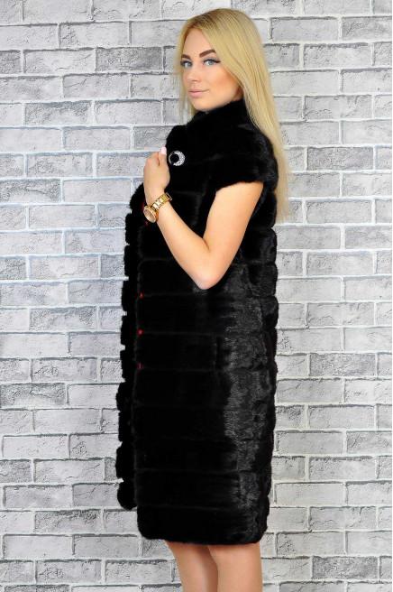 Женская жилетка из меха норки