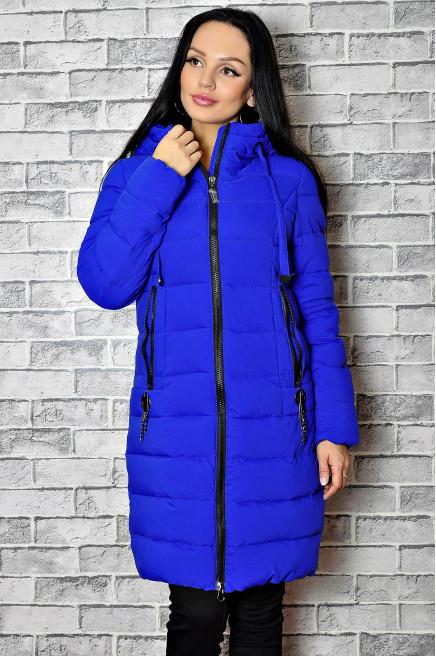 Болоневое зимнее пальто женское