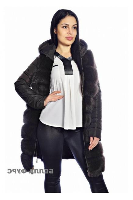 Меховая жилетка с кожаной курткой