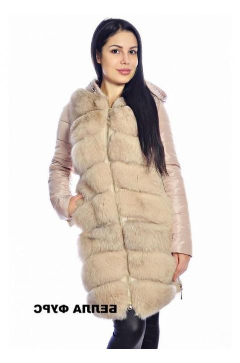 Жилетка меховая на кожаную куртку