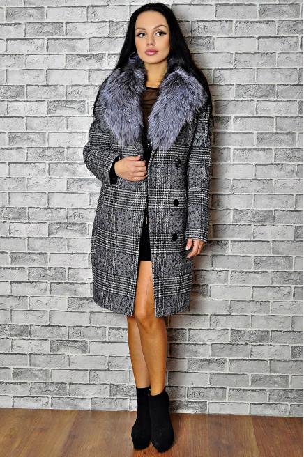 Зимнее пальто женское с мехом недорого
