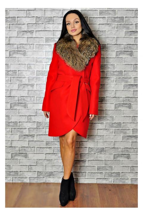 Недорогое зимнее пальто с мехом