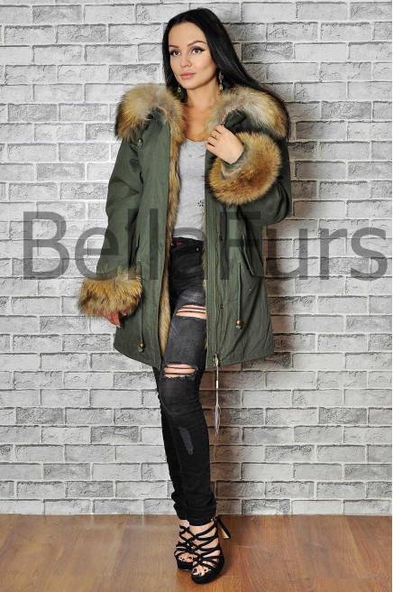 Зимнее женское пальто из плащевки недорого