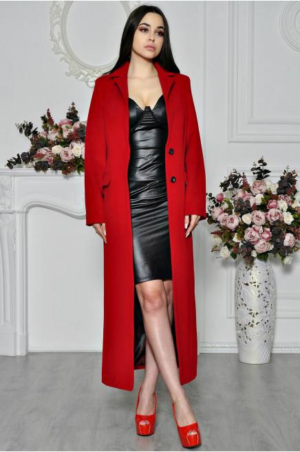 Зимнее пальто приталенное женское длинное