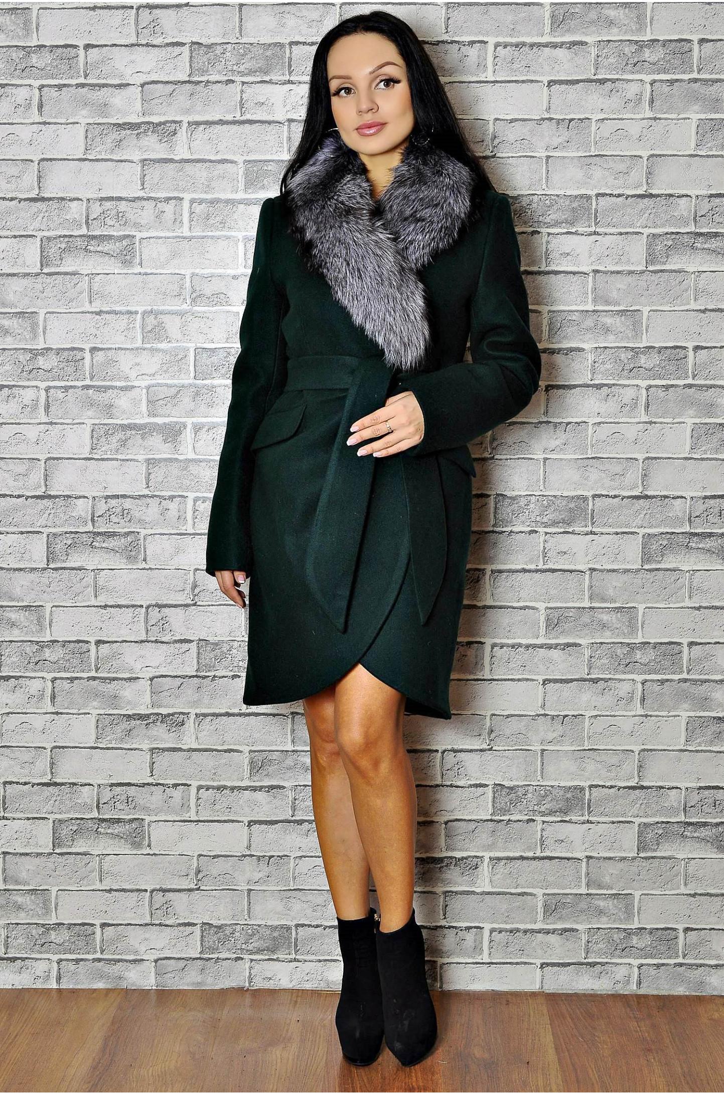 e384385b48d Пальто драповое женское зимнее с мехом от 15500 ₽ • 4354-01