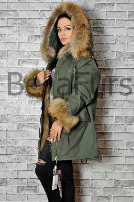 Женское меховое пальто женское