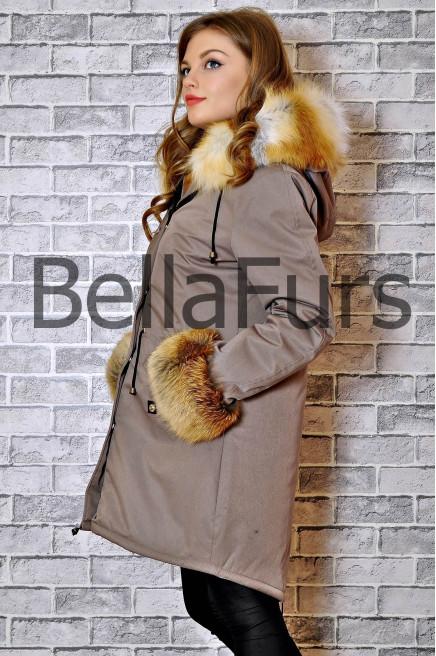 Зимнее пальто на меху