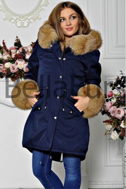 Женское зимнее меховое пальто