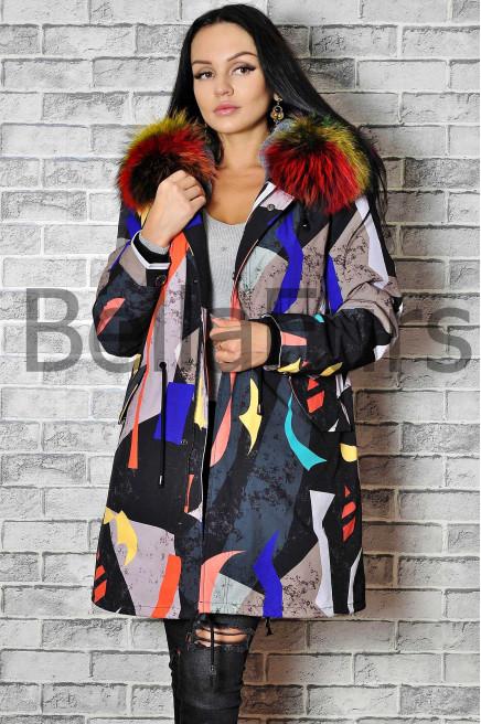 Зимнее пальто с меховой подстежкой