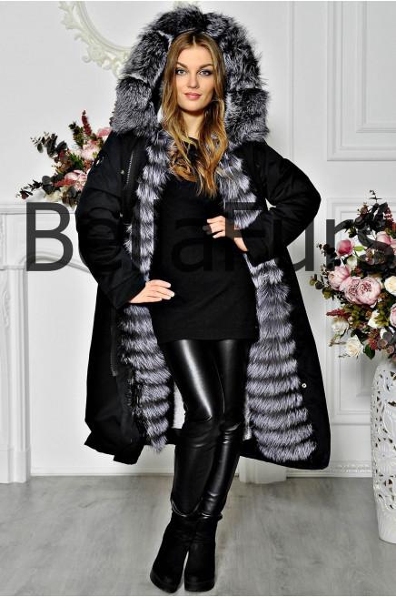 Зимнее женское пальто парка