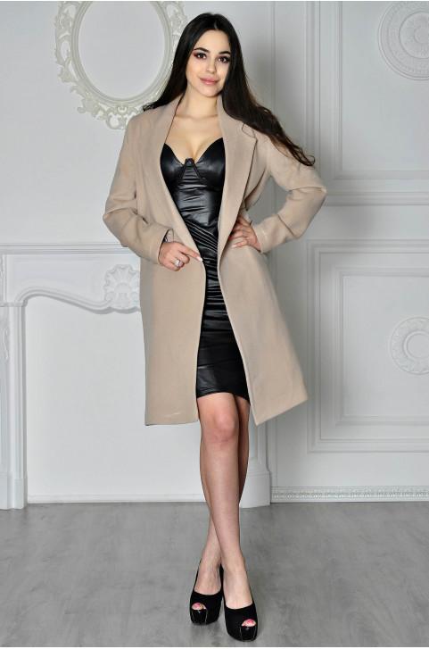Теплое шерстяное пальто женское