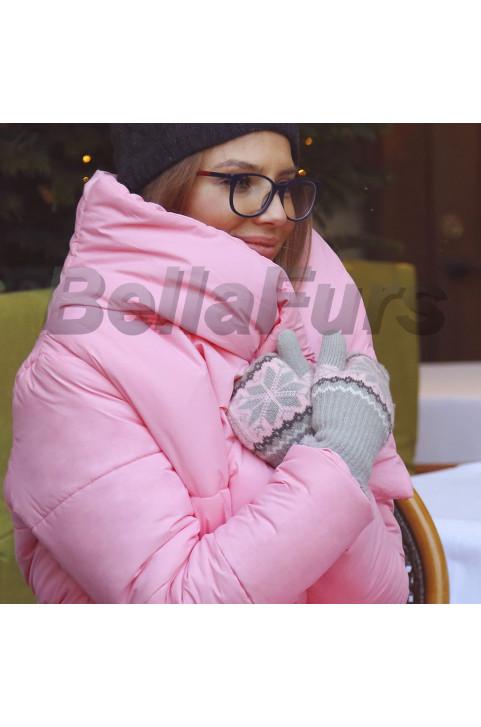 Пуховик (цвет розовый)